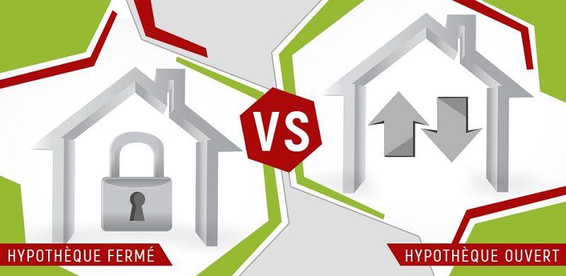 taux hypothecaire ouvert ou ferme