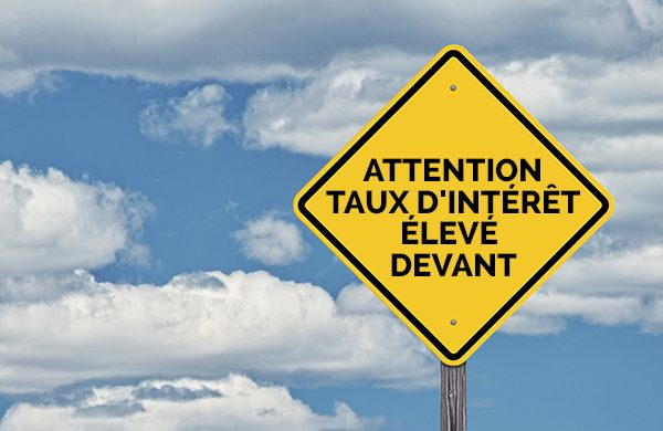 attention taux interet eleve devant